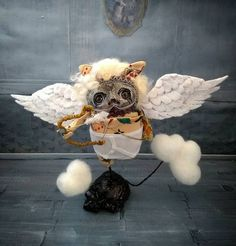 Cupid...a tattooed angelic little monster www.etsy.com/UK/shop/Grimmblees Little Monsters, Uk Shop, Cupid, Gothic, Teddy Bear, Angel, Toys, Animals, Activity Toys