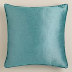 Enjoy the vibrant, upscale appeal of our exclusive Aegean Dupioni Throw Pillow with Piping when you add it to any space. Mix and match with additional elegant shades for a look that brings drama and beauty to your living room, bedroom, guest room and more.