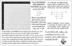 Another math helper for first quarter - oversized postcard Math Teacher, Math Classroom, Teaching Math, Classroom Resources, Teacher Stuff, Classroom Ideas, Math Helper, Fun Math, Maths