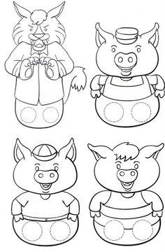 les 3 petits cochons marottes