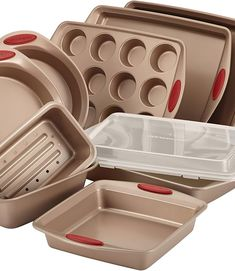 (This is an affiliate pin) Rachael Ray Nonstick Bakeware Cranberry