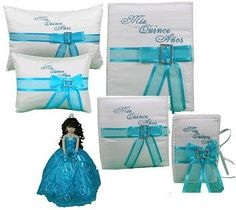 Quincea�era Style  - Mis Quince Turquoise Quinceanera Set - 6 Items, $179.99 (http://www.quinceanera-style.com/mis-quince-turquoise-quinceanera-set/)