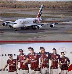MILANUPDATES: Mario Balotelli Shows Off AC Milan Themed Emirates...
