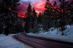 vacation travel photos - Vivid Winter Sunset