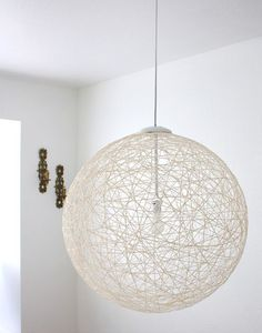 """▷ ideas and instructions on the topic of """"DIY lamp""""- ▷ Ideen und Anleitungen zum Thema """"DIY Lampe"""" creative DIY ideas to imitate, make a lampshade yourself, step by step instructions -"""