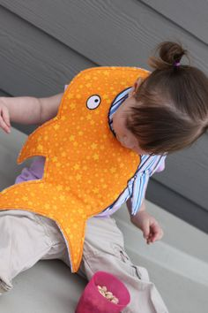 Animal shaped baby/toddler bib Sammy the shark by littleittles, $15.99 Project for @Becky Benson Smith :) Hahaha!
