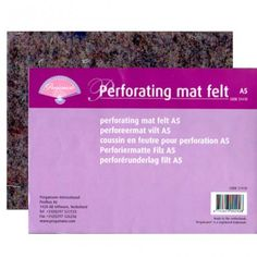 Pergamano Perforating Mat Felt - A very lightweight felt mat for perforating. With the size and weight of this perforating mat it is very convenient to take with you to your classes, friends, etc. Working On It, A5, Boards, Friends, Craft, Paper, Felt, Planks, Creative Crafts