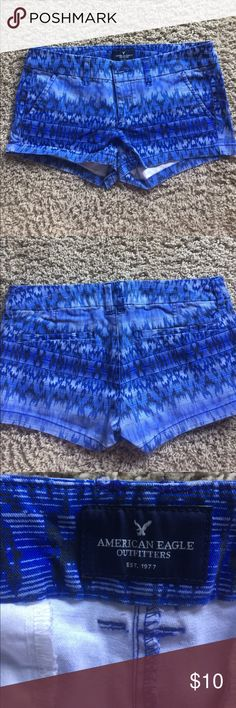 Blue patterned American Eagle shorts Stretch, shortie American Eagle shorts American Eagle Outfitters Shorts