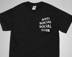 Anti Social Club Black T Shirt