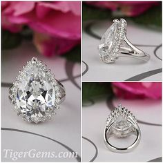 The 10 carat, Old Hollywood filigree style, pear cut halo ring  Available now at ✨ TigerGems.com  #engagementring #ring #rings #mountains #sundaynight #believe #moneymaker #mygirls #bellagio #crochet #instalove #seashells #comment #sundays #venetian #rustic #perfect #cl #diamondrings #flowercrown #perfection #hustlehard #sundayfun #sundaysbest #lovingit #loubs #sundaymornings #allstar #sundaylunch #please