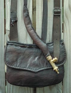 Old Pouch Friday: Fowler Pouch with Shot Snake Leather Purses, Leather Handbags, Leather Bag, Shooting Bags, Ken Scott, Longhunter, Powder Horn, Leather Bound Journal, Original Paintings For Sale