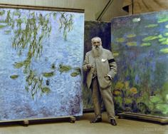 Claude Monet in 1923
