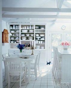 Cozinha e sala de jantar interligadas. Foto: ElleDecor