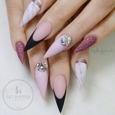 """2,869 Likes, 10 Comments - Ugly Duckling Nails Inc. (@uglyducklingnails) on Instagram: """"Beautiful nails by @getbuffednails with Ugly Duckling acrylic and Matte Top coat ✨Ugly Duckling…"""""""