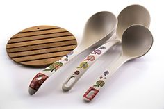 Premium Bamboo Kitchen Ladles, All Natural, Made From 100%, Naturally Fallen Bamboo, Earth Friendly, Great For Soups & Sauces, Perfect Addition To Your Kitchen Utensil Collection, Bamboo Pad Included. http://amzn.to/2njPxAM #Deal #Sale 53%