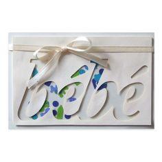 Carte à secouer Félicitations Naissance Garçon, Collection Lovely Scrap, Lovely Carte