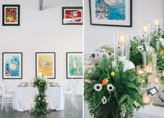 Modern Wedding Inspiration with Lots of Ferns