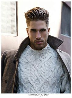 White knit with beige jacket