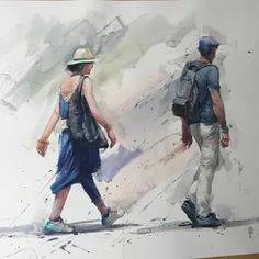 Eudes Correia: 2 тыс изображений найдено в Яндекс.Картинках Watercolor Illustration, Watercolor Paintings, Portrait Sketches, Art Lessons, Projects To Try, Colour, Baseball Cards, Hats, Artist