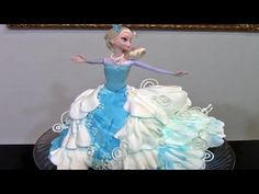 How To Make A Frozen Elsa Cake / Cake Decorating - YouTube