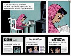 Cómic Malala inglés