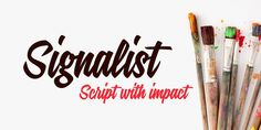 Unusual fonts, used in moderation, can add punch to a presentation. MyFonts.com features fonts like Signalist at reasonable prices. Worth checking out!