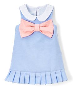 Love this Blue & Pink Peter Pan Collar Dress - Infant & Toddler on #zulily! #zulilyfinds