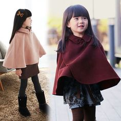 mountain-hop | Rakuten Global Market: Poncho coat Duffle coat Cape coat girl plain engand loose silhouette junior kids cloak coat jacket outer kids clothes kids clothes short length tops girls thick kabukichō birthday ceremony entrance ceremony graduation shrine recital 110-170 cm