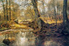 Peder Mørk Monsted, Un posto tranquillo nella foresta (1890)