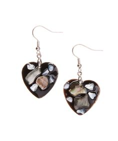Another great find on #zulily! Black Mother of Pearl Heart Drop Earrings by Pavcus Designs #zulilyfinds