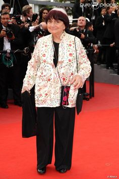 Agnès Varda lors de la projection de Robin des bois à Cannes le 13 mai 2010