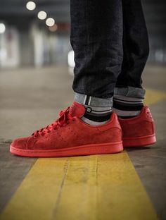 adidas stan smith all red