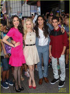 Evie, mal, jay & Carlos from the movie descendants. An original Disney channel movie