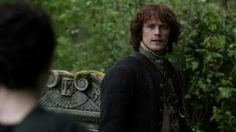 """Jamie visiting his father's grave.  """"Lallybroch"""""""