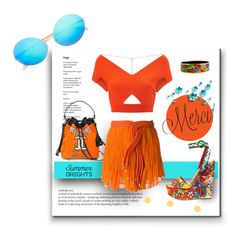 """""""Orangino Turquoise"""" by michelletheaflack ❤ liked on Polyvore featuring Moschino, Jay Ahr, Roland Mouret, Dolce&Gabbana, Hermès, Victoria Beckham, polyvorecontests and summerbrights"""