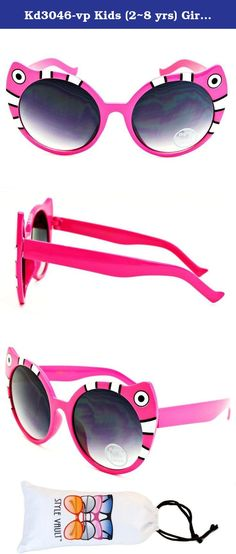 Kyra Kids Plastic Kitty Whiskers /& Bow Sunglasses in Hot Pink