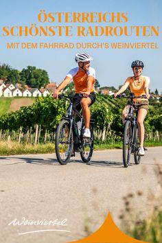 Im Weinviertel treffen malerische Kellergassen auf idyllische Weingärten und Heurigen. Das rund 2.000 Kilometer lange Radwegnetz führt dich dabei quer durch Österreichs größte Weinbauregion. Wir haben dir die 3 schönsten Radtouren herausgesucht und verraten dir die Highlights entlang der Radwege. Perfekt geeignet für einen genussvollen Radurlaub/Radausflug, solltest du keine Zeit verlieren und dich gleich informieren! © Robert Herbst Highlights, Bike Trails, Bike Rides, Reunions, Wine, Bicycle, Round Round, Luminizer, Hair Highlights