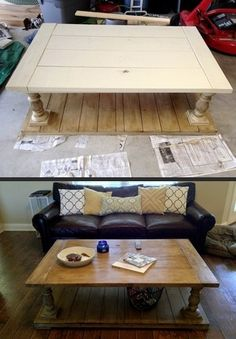 This is such a great coffee table DIY!