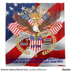 Patriotic Liberty Shower Curtain Peace