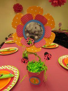 Ladybug Birthday-center piece idea