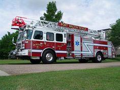 Fort Walton Beach, FL FD E-ONE eMAX 78-foot Aerial Ladder Quint.