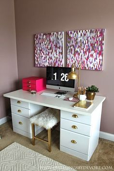 Chic desk area