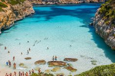 """On the south east of mallorca, about six kilometres from the resort of santanyí lies the beach of caló des moro. it is one of the """"hidden"""" gems in mallorca. Menorca, Beaches In The World, Places Around The World, Facts About Spain, Places To Travel, Places To See, Mallorca Beaches, Beautiful Places To Visit, Amazing Places"""