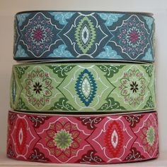 Amy Butler Jacquard ribbon.