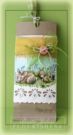 Beate Johns created this amazing beautiful creation. She created this using the Spring has Sprung stamp set. Hidden inside is a little treat. Be sure to check out her blog for more details.
