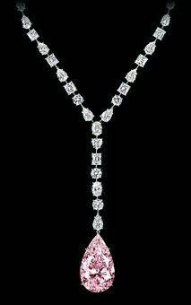 GABRIELLE'S AMAZING FANTASY CLOSET | Graff Pear-Cut Pink Diamond Pendant