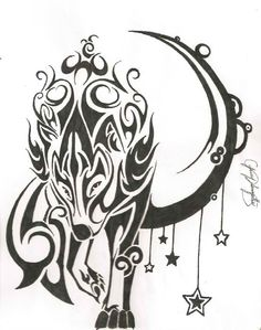 Love this tribal wolf <3