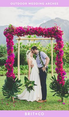Bookmark this to get outdoor wedding arch decor inspiration for your ceremony.