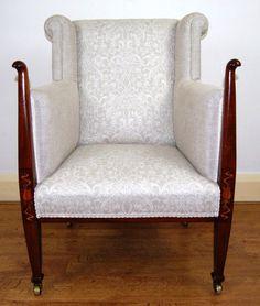Wingback Chair, Armchair, Antiques For Sale, Art Decor, Home Decor, Art Nouveau, Accent Chairs, Places, Furniture