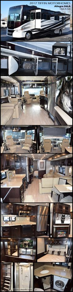 2017 ALLEGRO 36LA Class A Gas by Tiffin Motorhomes. The Allegro is a favorite of first-time RV owners, earning raves for its comfort, design, reliability, and affordability!